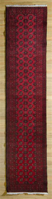 Sale 8700C - Lot 23 - Afghan Turkman Runner 380cm x 80cm