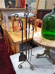 Sale 8934 - Lot 1092 - Metal Fire Tools on Stand