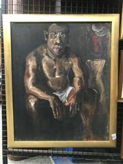 Sale 9072 - Lot 2005 - G. Baker Portrait of Simon, 1970, oil on canvas on board, frame: 62 x 53 cm, signed and dated lower right