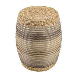 Sale 9140F - Lot 214 - The drum features a colourful rattan rope wrap. The barrel shape offers a classic form, with blue and grey colouring mixed in with t...