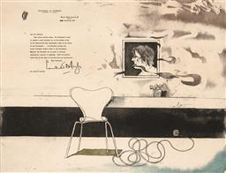 Sale 9256A - Lot 5169 - MICHAEL FARRELL (1940 - ) The Presidents Letter, 1977 etching, ed. IV/XIV 49.5 x 64.5 cm (frame: 80 x 91 x 3 cm) signed and dated l...