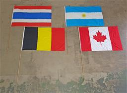 Sale 9254 - Lot 2312 - Collection of International Flags incl. Thailand, Belgium, Argentina & Canada