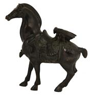 Sale 8048A - Lot 64 - An Oriental bronze of a horse with cicada, height 15cm