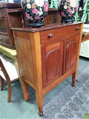 Sale 8589 - Lot 1095 - Raised Cedar Cabinet with Single Drawer & Two Doors