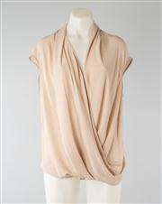 Sale 8740F - Lot 252 - A Helmut Lang sleeveless asymmetrical wrap top in blush, size small
