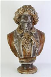 Sale 8783 - Lot 29 - Bust of Beethoven ( H 40cm)