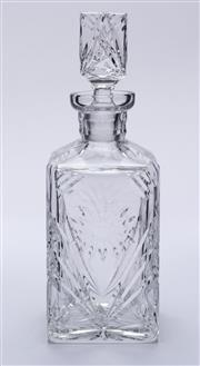 Sale 9015J - Lot 122 - An excellent quality hand cut lead crystal whiskey decanter Ht: 25.5cm