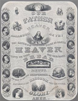 Sale 9237A - Lot 5081 - DAWLIN F. BROWN The Lords Prayer (After Da Vinci ), 1880 engraving (mounted/unframed) 61 x 46 cm (mount: 80 x 61 cm) signed in plate