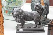 Sale 8100 - Lot 20 - Bronze Spaniel Figure on a Marble Base