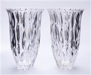 Sale 9015J - Lot 123 - A pair of Waterford Marquis lead crystal vases Ht: 22.5cm