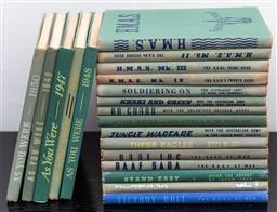 Sale 9162H - Lot 55 - A collection of vintage books relating to WWII, including HMAS, As you were, etc