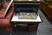 Sale 8087 - Lot 1046 - Good Marble Top Washstand w Tiled Back