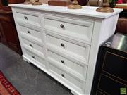 Sale 8562 - Lot 1097 - White Painted Timber Chest of Eight Drawers
