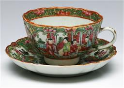 Sale 9153 - Lot 67 - A Famille rose cup and saucer duo