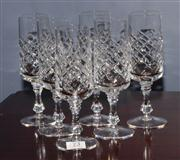 Sale 8127A - Lot 73 - A Set of 6 Hand Cut Lead Crystal Champagne Flutes,