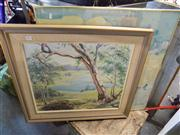 Sale 8429A - Lot 2057 - (2 works) S Walton After The Rain, oil on canvas on board, ca 50 x 70cm, signed lower left, and a Framed Decorative Print.