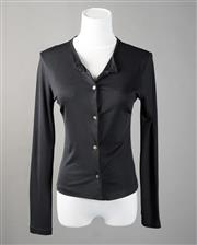 Sale 8499A - Lot 11 - A Collette Dinnigan black long-sleeved silk blend cardigan. Size: S.