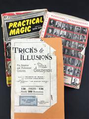 Sale 8539M - Lot 158 - 3 vols., Tricks & Illusions by Will Goldston. Signed by Ronaldo the Mystic (S. R. Pritchard) 1935, rebound copy from c. 1909; P...