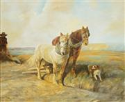 Sale 8652A - Lot 5095 - Alan Lewis (1895 - 1987) - Ploughing the Field 59 x 67cm
