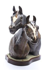 Sale 8710 - Lot 62 - Lladro Figure of Horse Busts