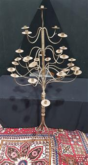Sale 8971 - Lot 1035 - A Wrought Iron Floor Standing Candelabrum with 23 branches on tripod base (Approx. H: 210cm), from House of Manor in Mosman