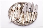 Sale 9027D - Lot 750 - Firth Brearley Silver Plated Cutlery Wares (incomplete for 6) with a Hecworth Tray