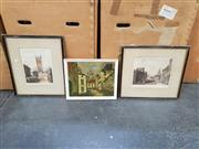 Sale 9061 - Lot 2086 - A pair of hand coloured engraving and decorative arts (3 works); 43 x 28 cm (largest)