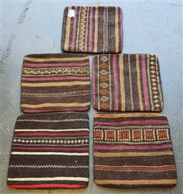 Sale 9154 - Lot 1048 - Hand-knotted pure wool Persian Multi-coloured kilim cushions (Approx. 40 x 40cm)