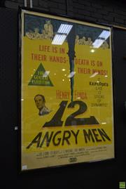 Sale 8550 - Lot 1023 - 12 Angry Men Movie Poster Screen Print, 99 x 69cm, published by United Artists