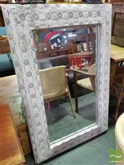 Sale 8550 - Lot 1199 - Mirror with Pierced Metal Frame