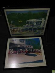 Sale 8622 - Lot 2039 - 2 Prints by Natasha Horean, Doyles Restaurant, signed