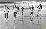 Sale 8721A - Lot 64 - Artist Unknown - Bondi Surf Club training for carnival today at Forster, 1970 19 x 29cm