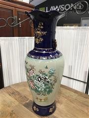 Sale 8889 - Lot 1355 - Pair of Cobalt Blue Chinese Vases