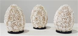 Sale 9183 - Lot 1087 - Set of 3 shell covered table lamps (h:27cm)