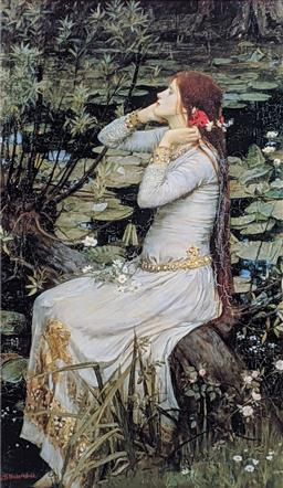 Sale 9237A - Lot 5083 - AFTER JOHN WILLIAM WATERHOUSE (1849-1917) (ENGLISH) Ophelia, 1894 offset lithograph 65 x 38 cm (frame: 85 x 57 cm) signed in print
