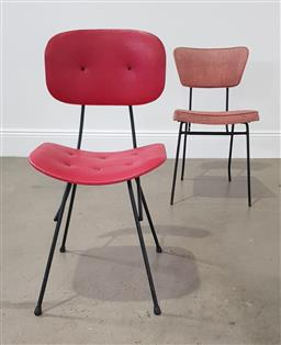 Sale 9255 - Lot 1101 - Vintage metal framed dining chairs x 2 (h:86 x w:42 x d:46cm)