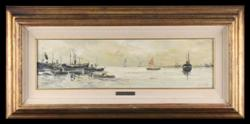 Sale 7923 - Lot 544 - Sandor Nutullo - Harbour Scene 17 x 65cm