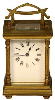 Sale 7974 - Lot 5 - French Brass Carriage Clock