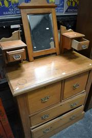Sale 8046 - Lot 1013 - Four Drawer Kauri Pine Dressing Chest