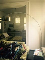 Sale 8298 - Lot 37 - An Arc lamp with a white marble base.