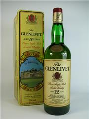 Sale 8340A - Lot 919 - 1x The Glenlivet 12YO Single Malt Scotch Whisky - 40% ABV, 750ml in Classic Golf Courses of Scotland - St Andrews collector tin