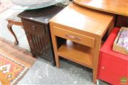 Sale 8465 - Lot 1596 - Two Timber Bedsides with Single Drawer