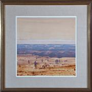 Sale 8550H - Lot 114 - Lawrence Daws - Specking at Anakie 52 x 52cm