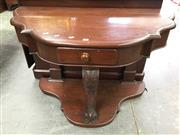 Sale 8666 - Lot 1029 - Victorian Mahogany Hall Table, with later shaped top, a frieze drawer, cabriole leg & lower tier