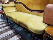 Sale 8740 - Lot 1340 - Mahogany Framed Chaise Lounge