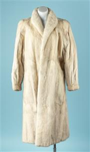Sale 9027F - Lot 20 - A Cornelius fur full length white mink coat, size S-M