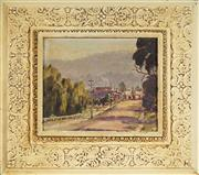 Sale 9077 - Lot 2035 - Artist Unknown - Country Town Street Scene 21.5 x 25 cm (frame: 41 x 45 x 4 cm)