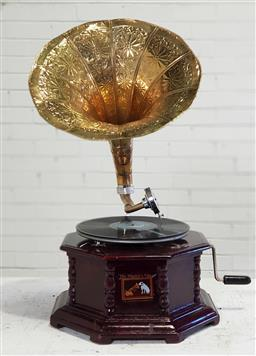 Sale 9174 - Lot 1362 - Reproduction gramophone-head in the office (h67cm)