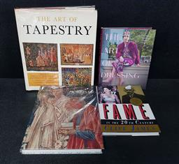 Sale 9254 - Lot 2046 - 4  Volumes incl. James, C. Fame in the 20th Century; Salamon, T. The Art of Dressing; The Art of Tapestry, ed. J. Jobe; etc