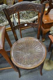 Sale 8013 - Lot 1235 - Bentwood Hall Chair With Pressed Seat
